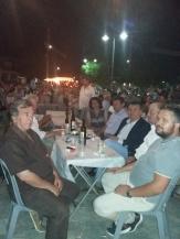 Πανηγύρι Δολίχης αρ. Ιωάννης Χαλκίδης (αντιδήμαρχος), δεξιά: Ευάγγελος Τσακνάκης (Πρόεδρος Δολίχης), Παναγιώτης Τσακνάκης (Τοπ. Σύμβουλος), Νίκος Ευαγγέλου (Δήμαρχος), Παπαευθυμίου Γεώργιος (αντιδήμαρχος)
