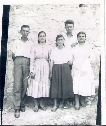 Πανηγύρι στο Σαραντάπορο 17-7-1958 Μαντζάρας Κων.νος του Στεφάνου -Μαντζάρας Αθ. Παναγιώτης